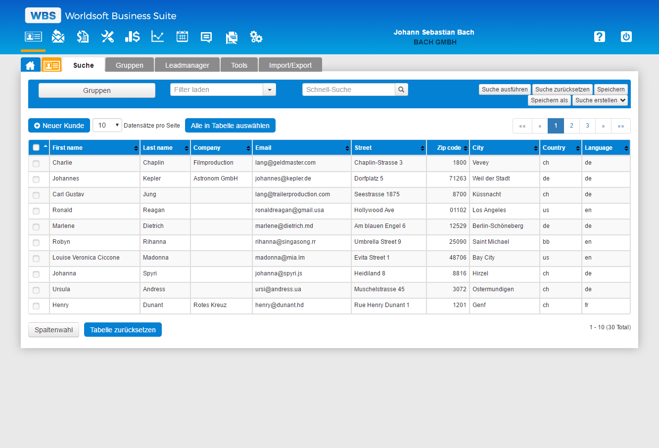 WBS Interface CRM